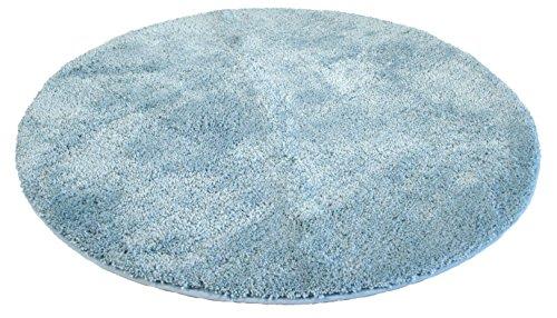 Kinzler J-10001/16 hellblau Badematte, Mikrofaser, 90 cm rund