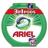Ariel 3en1 Pods Detergente En Cápsulas, Original, Limpieza Increíble, Limpia, Quita Manchas, Ilumina- 50Lavados