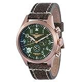 Orologio Aeronautica Militare CRONO AVIATOR VINTAGE ASSI CVQC4C4 Al quarzo (batteria) Acciaio Quandrante Verde Cinturino Pelle
