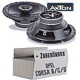 Opel Corsa B/C/D - Lautsprecher Boxen Axton AE652F | 16cm 2-Wege 160mm Koax Auto Einbauzubehör - Einbauset