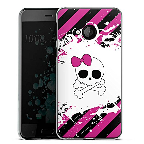 Pink N Play Rock (HTC U Play Hülle Case Handyhülle Punk Rock Prinzessin Pink Skull)