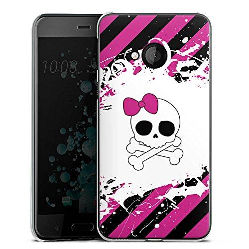 Play Pink N Rock (HTC U Play Hülle Case Handyhülle Punk Rock Prinzessin Pink Skull)