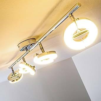 4 ceiling spotlight led adjustable warm white light in different angles 450 lumen per spot. Black Bedroom Furniture Sets. Home Design Ideas