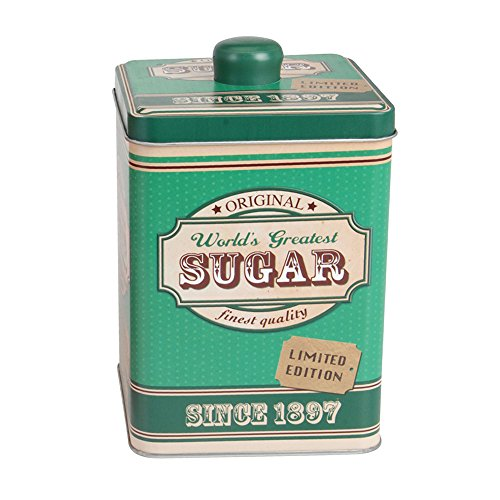 Zuckerdose aus Metall 10,5x10,5x17cm, Motiv Sugar,, gebraucht gebraucht kaufen  Wird an jeden Ort in Deutschland