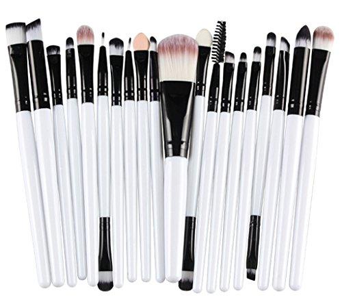 Bigood 20Pcs Brosses Pinceau Maquillage Professionnel Cosmétique Beauté