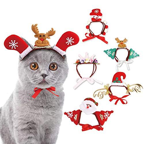 LPxdywlk Halloween Süße Schneemann Elch Santa Baum Form Hund Katzen Headwear Stirnband Hut Prop Weihnachten Zubehör 3# SNone