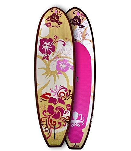 RUNGA PUAAWAI Bamboo 9.0 Stand-UP Paddle Board SUP HARDBOARD Hard SURF Board Bamboo Paddle Board