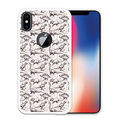 iPhone X Hülle, WoowCase Handyhülle Silikon für [ iPhone X ] Rhombus Pink Schottenkaro Handytasche Handy Cover Case Schutzhülle Flexible TPU - Transparent Housse Gel iPhone X Transparent D0401