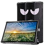 KATUMO Huawei MediaPad M5 10.8 Hülle, PU Leder Skin Tasche - Ständer Schutzhülle für Huawei MediaPad M5 27,43 cm (10,8 Zoll) Tablet PC - KP Schwarze Augen
