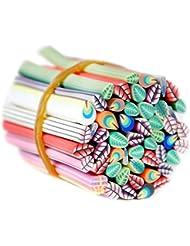 Mode Galerie 50 Pc 3D Onlges Autocollant Canes Fimo Manucure Decoration Feuilles