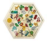 Hess-Spielzeug 14929 - Mosaiklegespiel Dschungel aus Holz