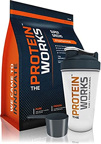Super Greens von The Protein Works mit gratis Shaker und