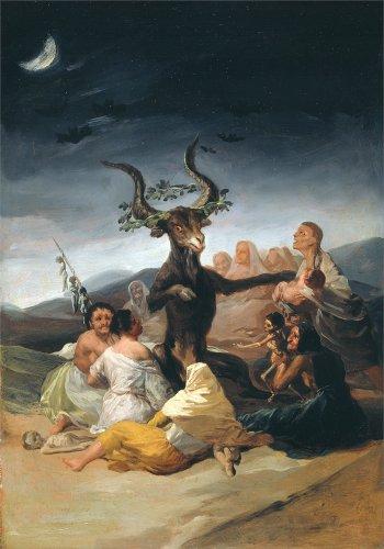 vollkornschnitte/dämonologie, Hexerei, Occult & Magick Hexen Sabbat. Das tolle he-goat von Francisco de Goya C1797-98250g/m², A3, glänzend, vervielfältigtes Poster (Demon Magic-karten)