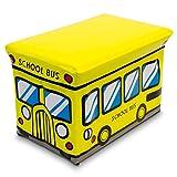 DKB Spielzeugbox und Sitzbank in einem Staubox Kunstleder (Schulbus)
