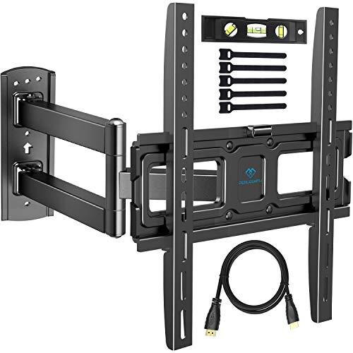 TV Wandhalterung, Schwenkbare Neigbare Halterung für 32-55 Zoll LED, LCD, Plasma, Flach&Curved Fernseher oder Monitor bis zu 35Kg, max.VESA 400x400mm