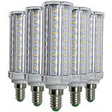EKINHUI LED E14 9W 58-2835SMD6000-6500K 2800 ~ 3200K refrescan las bombillas blancas calientes del maíz blanco para la sala de estar LED 800 ~ 900lm (5PCS) ( Color : Cool White )