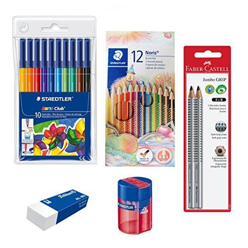 Schreibset Grundschule - Stifte, Spitzer und Radierer