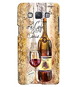 Omnam Vintage Wine Printed With Glass Designer Back Cover Case For Samsung Galaxy A5