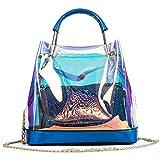 Frauen-holographische Gelee-Klare Transparente Taschen Blue