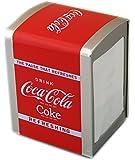 OFFICIAL COCA COLA NAPKIN DISPENSER COKE SERVIETTE STORAGE TIN TISSUE GIFT NEW