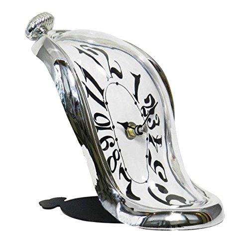RD Reloj Sobremesa Inspirado en el Cuadro de Salvador DaIi Cuarzo Plateado