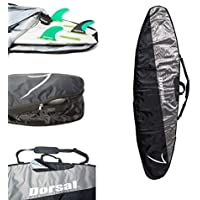 DORSAL Travel Longboard Surfboard Board Bag [8'0, 8'6, 9'0, 9'6] 9'0 / Black/Grey