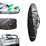 DORSAL Travel Longboard Surfboard Board Bag [8'0, 8'6, 9'0, 9'6] 9'6/Black/Grey