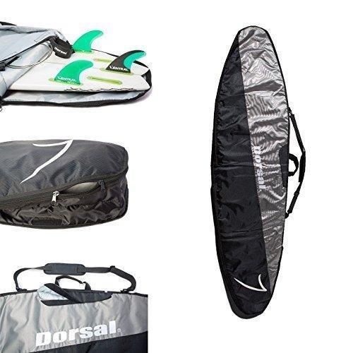 DORSAL Travel Longboard Surfboard Board Bag 9\'6 / Black/Grey