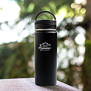 Stainless Steel Water Bottle - Thermo Flask Water Bottle - Hydration Bottle Eco Friendly - M&h Hydration Leak-proof, | Bpa-free Stainless Steel | Reusable Water Bottle | Double Walled Vacuum Insulated | Sistema - Keeps Drinks Cold For 18+ Hrs, Hot For 8 - Hiking, Running, Outdoors Water Bottle (32oz - 909ml) 3