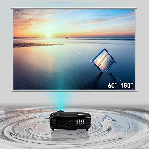 Proiettore Portatile Wimius T4 3200 Lumen Videoproiettore Full Hd