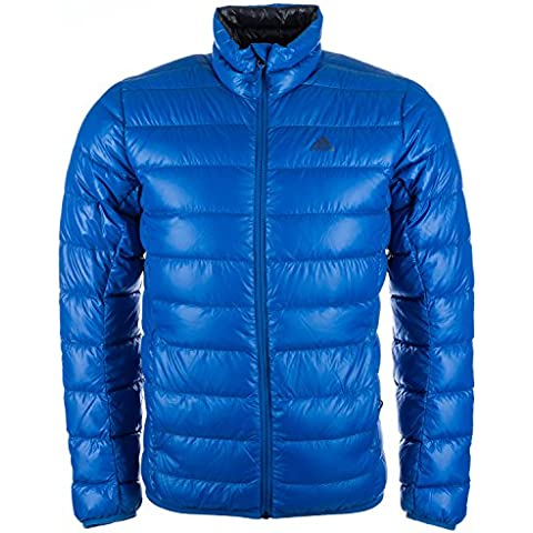 adidas Light Down J - Anorak para hombre, color azul, talla 180