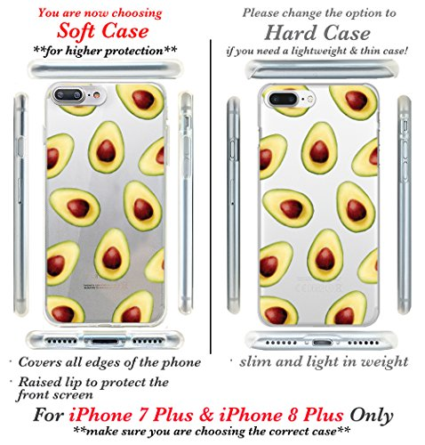 iPhone 7 Fall, casesbylorraine Cute Muster Case Kunststoff Hard Cover für Apple iPhone 7, A66, iPhone 7 Plus Soft Case A06