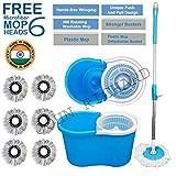 John Richard Quick Clean 360° Easy Magic Spin Plastic Bucket Mop & Rotating