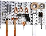 IB-Style Werkzeugwand Lochwand Werkzeughalter Set Regal Werkzeugregal WEISS erweiterbar - made in Germany