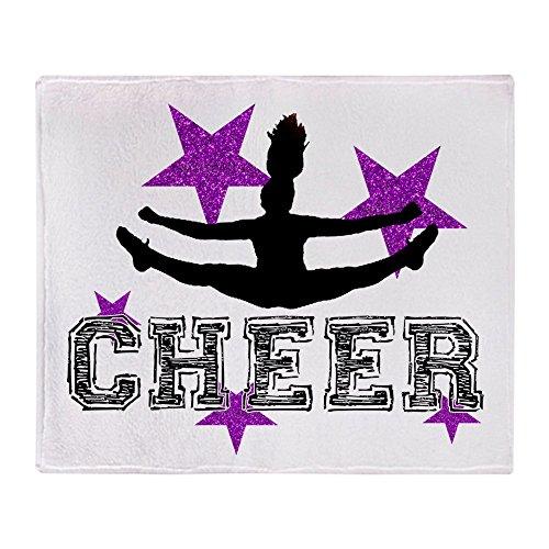 CafePress - Cheerleader - Weiche Fleece-Überwurfdecke, 127 x 152 cm Stadion-Decke 50x60 weiß Cheerleader-fleece