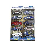 #8: Planet of Toys Pullback Police Series of 10 Cars for Kids, Children