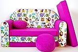 Kindersofa Spielsofa Minicouch aus Schaum Kindersessel Kissen Matratze Farbwahl (51)