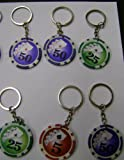 Partyrama K410131-HNB-6 - Set de llaveros de fichas de casino (6 unidades)