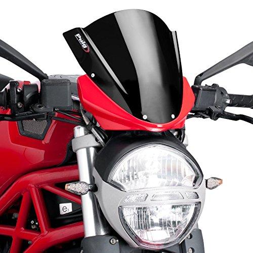 Bulle Racing Puig Ducati Monster 696/796/1100/Evo 08-14 noir