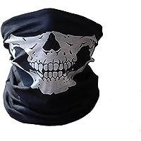 Gosear-Cráneo Bandana de máscara protectora de polvo para Cara cuello en Motos(Poliester,Negro)