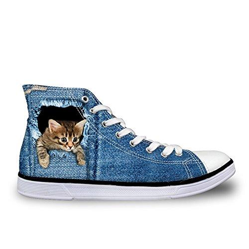 Coloranimal - A Collo Alto donna denim cat-1