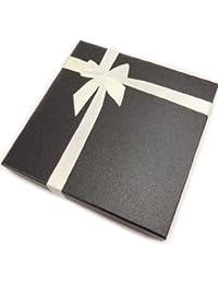 Estuche collar 'Cadeau'plateado negro.