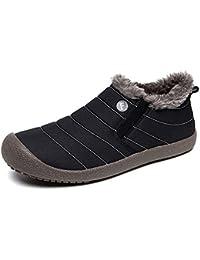 Gaatpot Bottines De Neige Hiver Fourrées Chaud,Outdoor Sports Imperméable  Boots Marche,Chaussures de Randonnée pour Homme… a37a26bc14b6