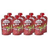 FruchtBar Bio Fruchtpüree Erdbeere-Apfel, im Quetschbeutel, 8x100g