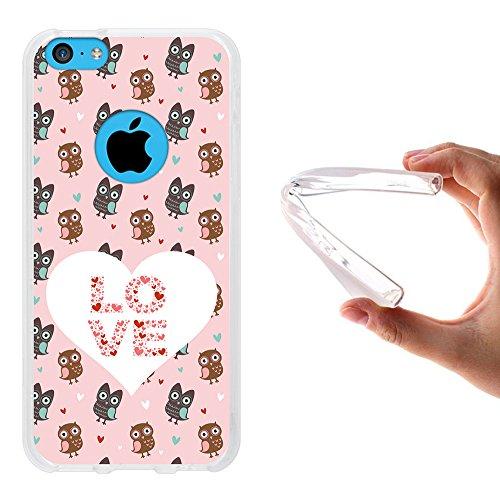 iPhone 5C Hülle, WoowCase Handyhülle Silikon für [ iPhone 5C ] Mondrian Stil Rechtecke Handytasche Handy Cover Case Schutzhülle Flexible TPU - Rosa Housse Gel iPhone 5C Transparent D0036