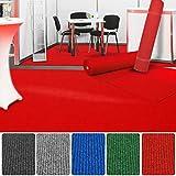etm Premium Messeteppich Meterware   Eventteppich als Hochzeitsläufer, Premierenteppich, VIP-Teppich uvm.   viele Farben und Größen   Rot - 200x600 cm