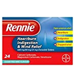 Rennie Heartburn, Indigestion and Wind Relief Chewable Tablets 24s