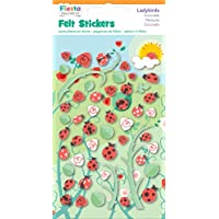 Fiesta Crafts Ladybird Felt Stickers - Pack of 6