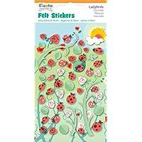 Fiesta Crafts Ladybird Felt Stickers - Pack of 6