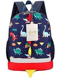 Preisvergleich für Uworth Kinderrucksack Klein Kleinkind Junge Kindergarten Rucksack Dinosaurier